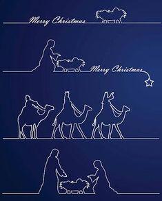 Christmas Nativity - ilustración de arte vectorial