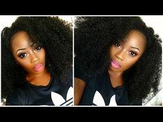 HOW TO MAKE A CROCHET WIG   MY BIG KINKY AFRO HAIR - YouTube