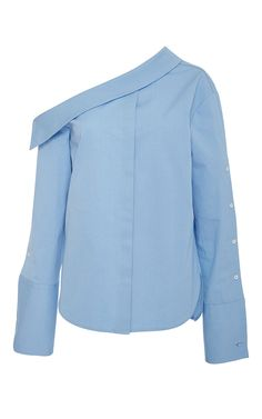 Sky Blue Tomaso Blouse by HELLESSY for Preorder on Moda Operandi