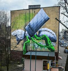 Ludo in Katowice, Poland Banksy, Jaguar, Best Street Art, Special Pictures, Street Art Graffiti, Chalk Art, Art Festival, Street Artists, Urban Art