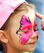 Have one carnival booth set up for face painting. This is a traditional favorite at the carnivals and really adds to the carnival theme party atmosphere. Offer fun carnival tattoo's to double the fun.