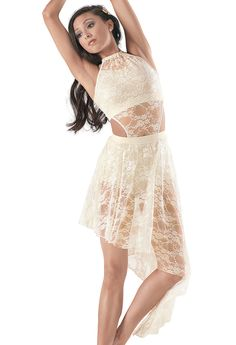 Weissman™ | Sequin Top & Brief w/ Lace Overdress