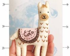 Check out our felt ornaments selection for the very best in unique or custom, handmade pieces from our shops. Felt Crafts, Crafts To Make, Christmas Crafts, Christmas Christmas, Personalized Ornaments, Handmade Ornaments, Handmade Christmas, Alpacas, Felt Ornaments Patterns