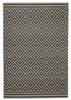 Matto RAPS 160x230cm l.värinen/musta   JYSK