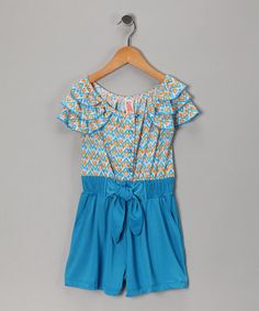 Chillipop: Blue Jewel Ruffle Romper today on #zulily