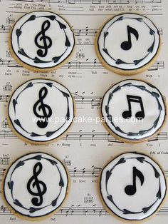 images of musical cookies | via pat a cake parties on flickr
