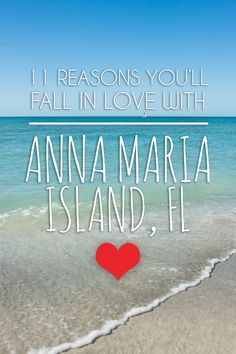 11 Reasons You'll Fall in Love with Anna Maria Island. Florida beaches and vacation activities to make your trip memorable. Florida Keys, Florida Vacation, Florida Travel, Vacation Places, Florida Beaches, Vacation Trips, Travel Usa, Vacation Spots, Places To Travel