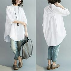 Get it now with Discount , Click the pict for detail Long Shirt Outfits, White Shirt Outfits, Kurta Designs, Blouse Designs, Iranian Women Fashion, Womens Fashion, Stylish Dresses, Fashion Dresses, Fashion Blouses