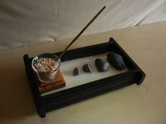 Get this chic Japanese table top for a small, simple work space. | 26 Zen Gardens To Help You Find Inner Peace At Work