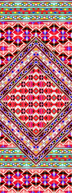 Using different shapes and colour's; this pattern really catches the eye.