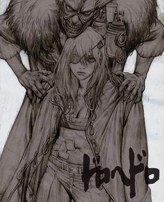 Nikaido and En in Dorohedoro Manga Anime, Anime Art, Manga Drawing, Manga Art, Drawing Tips, Character Illustration, Illustration Art, Art Illustrations, Art Sketches