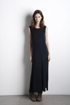 Modal Slub Maxi Tank Dress, Graham & Spencer Summer 2013. #alanazimmer Ideal Girl, Mood Indigo, Graham Spencer, Tank Dress, Cobalt, Everyday Fashion, My Outfit, High Neck Dress, Navy