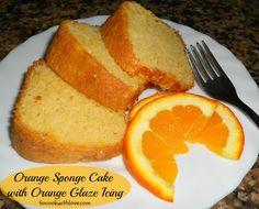 Orange Sponge Cake with Light Orange Glaze