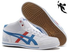 2013 Asics High Skateboard Shoes White Blue