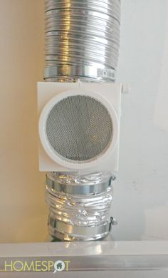 This heat keeper allows warm air from the dryer to stay inside during the winter while catching lint.