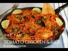 One Pan Tomato Chicken & Rice in 30 Minutes - YouTube
