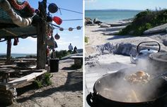 Die Strandloper is one of the more unusual restaurants to be found in South Africa's Western Cape. Seaside Holidays, Cape Town, South Africa, Westerns, Restaurants, Coast, Explore, Beach, Outdoor Decor