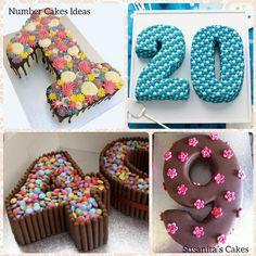 Ideas para decorar Tortas (pasteles,tartas) de números con golosinas!..#candycake #cake #tarta #torta #pastel #numbercake #decoratedcake #tortasdecoradas #tartadecorada #numeros #golosinas #pasteldenumeros #susanitascakes #talentovenezolano Mini Tortillas, Birthday Cakes, Birthday Parties, Cake Kids, Chocolate, Baking Tips, Party Themes, Sweet Tooth, Cake Decorating