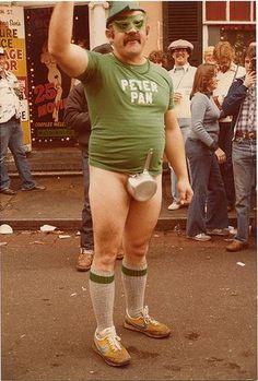Hysterical Mardi Gras Costume Winner. This guy ain't shy!