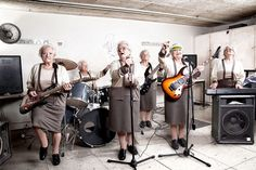 Old ladies band....rock on girls!!/* I wanna join a rock band....................