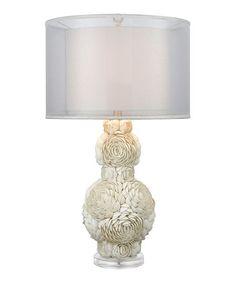 Look at this #zulilyfind! White Portonovo Table Lamp #zulilyfinds