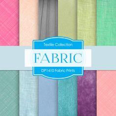 Digital Fabric Paper: LINEN FABRIC PAPER by DigitalPaperStore