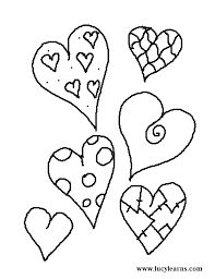Valentine Coloring Pages Print Valentines Day Page And