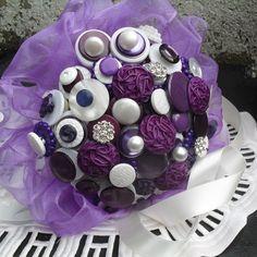 3. Something handmade  A button wedding bouquet!   #ModCloth #Wedding