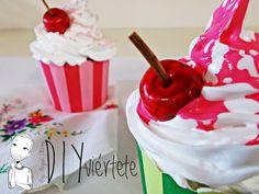 Cupcakes con la Técnica del Decoden
