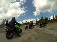 Riders at Crater Lake, OR.  Shot with GoPro Hero 3 Black.  Photo by Jason Moore.