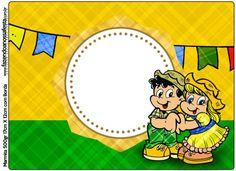 Convite, Moldura e Cartão Festa Junina Tema Copa do Mundo: