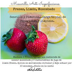 Mascarilla Detox Clarificante Fresco, Natural Beauty, Life Hacks, Beauty Hacks, Strawberry, Hair Beauty, Fruit, Nature, Food
