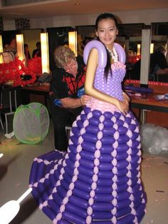 Dresses made from Balloons!