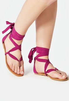 A fun printed flat sandal with an ankle ties closure that& pair perfectly with your favorite summer ensembles. Now available in wide width. Pretty Sandals, Beautiful Sandals, Cute Sandals, Pretty Shoes, Cute Shoes, Tie Up Sandals, Sexy Sandals, Women Sandals, Shoe Refashion