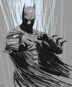 Batman by Clay Rodery love the positive and negative in this one Batman Fan Art, Batman Artwork, Batman Wallpaper, Batman Arkham, Batman And Superman, Spiderman, Wallpaper Art, Batman Robin, Nightwing