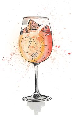 I just love painting cocktails in pen and ink and watercolour. This Aperol Spritz illustration is one of my most popular prints. A perfect celebratory drink and a firm favourite in my household.