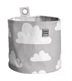 (Hang)mandje groot wolken - Grijs   Opbergen   Gras onder je voeten