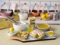 RESERVEDMiniature Making Lemon Meringue Pie Set by CuteinMiniature