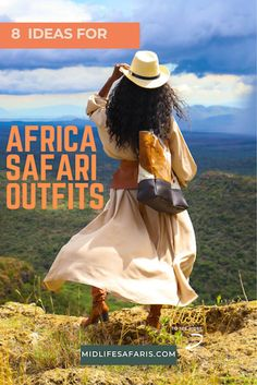 If you are going on an African safari and are in complete panic mode about what to wear, do not be. Here are a few easily replicable looks I loved to help you dress for the wild… #safari #safarioutfits #safariwear #Safariclothesforwomen #kenyasafari Kenya Travel, Africa Travel, Safari Outfits, Travel Outfits, Travel Guides, Travel Tips, Travel Destinations, Travel Essentials List, Travel Style