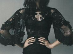 Dolce & Gabbana (Dark Nights: Egle Tvirbutaite By Frederic Pinet For Uk Marie Claire December Xo, LisaPriceInc. Foto Fashion, Dark Fashion, Gothic Fashion, High Fashion, Womens Fashion, Mode Chic, Mode Style, Mode Sombre, Gothic Mode