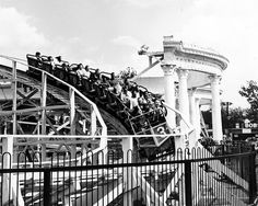 The Bobs roller coaster, pictured here in 1953, made its debut in 1921 and was the park's fastest and busiest for years.