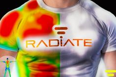 Radiate uses color change technology and thermochromic inks and dyes that change color as the temperature changes, revealing the current level of your performance in terms of output of heat. #HiTechClothing