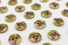 10 Butterfly Floral Sew Through Wood by boysenberryaccessory