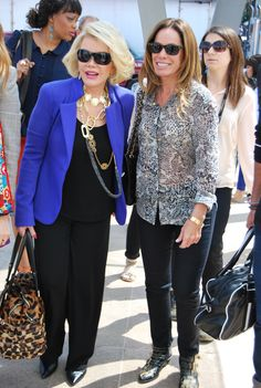 Joan Rivers and Melissa Rivers. Fashion Week 9.12.12