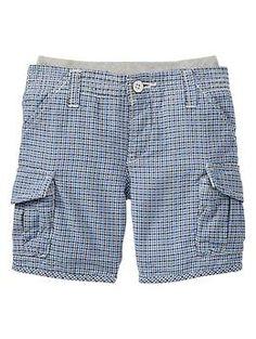 Plaid cargo shorts   Gap