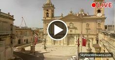 Wonderful view on the façade of St. George's Parish Church.  #Malta #Travel #live #Webcam