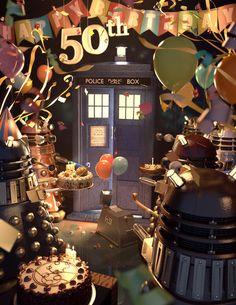 Happy 50th Birthday, Tardis. by uoa7.deviantart.com on @deviantART