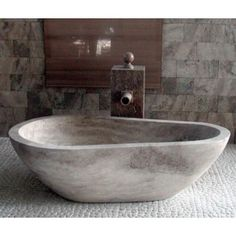 WS Bath Collections Piedra Pavo Free Standing Bathtub in Natural Stone | AllModern