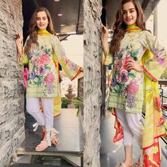 Image in pakistan🇵🇰fashion👠💋👗 collection by AshKhan Simple Pakistani Dresses, Pakistani Fashion Casual, Pakistani Dress Design, Pakistani Outfits, Indian Dresses, Pakistani Lawn Suits, Punjabi Suits, Salwar Suits, Stylish Dress Designs