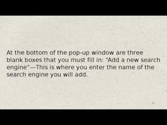 How To add search engines to google chrome
